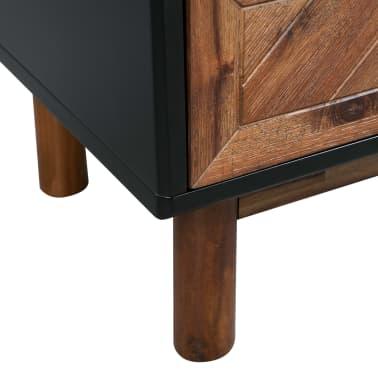 vidaXL Spintelė iš tvirtos akacijos medienos, 90x33,5x75 cm[8/9]