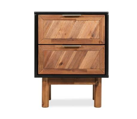 vidaXL Noptieră, lemn masiv de acacia, 40 x 30 x 53 cm[2/9]