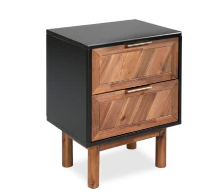 vidaXL Noptieră, lemn masiv de acacia, 40 x 30 x 53 cm[4/9]