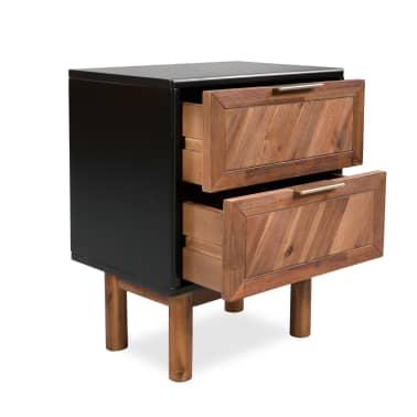 vidaXL Noptieră, lemn masiv de acacia, 40 x 30 x 53 cm[3/9]