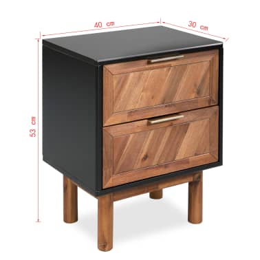 vidaXL Noptieră, lemn masiv de acacia, 40 x 30 x 53 cm[9/9]