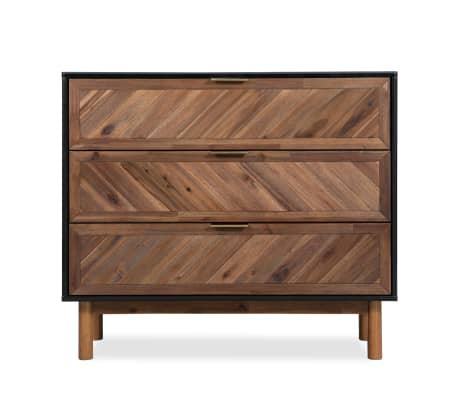 vidaXL Servantă din lemn masiv de acacia, 90 x 33,5 x 80 cm[2/9]
