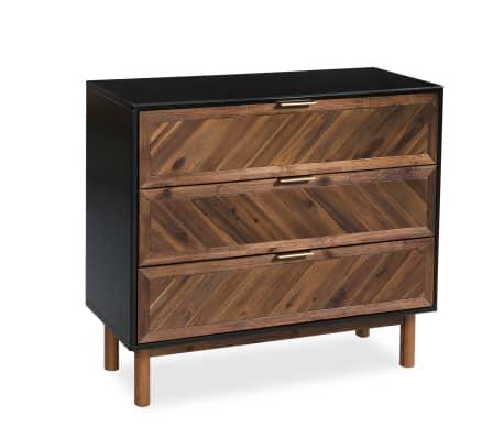 vidaXL Servantă din lemn masiv de acacia, 90 x 33,5 x 80 cm[3/9]