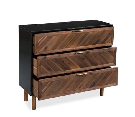 vidaXL Servantă din lemn masiv de acacia, 90 x 33,5 x 80 cm[4/9]