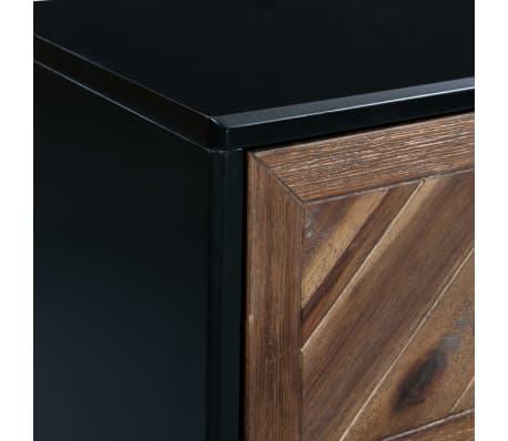 vidaXL Servantă din lemn masiv de acacia, 90 x 33,5 x 80 cm[7/9]