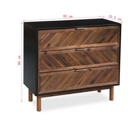 vidaXL Servantă din lemn masiv de acacia, 90 x 33,5 x 80 cm[9/9]