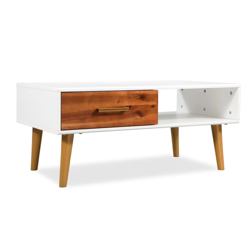 vidaXL Măsuță de cafea, lemn masiv de acacia, 90 x 50 x 40 cm poza vidaxl.ro
