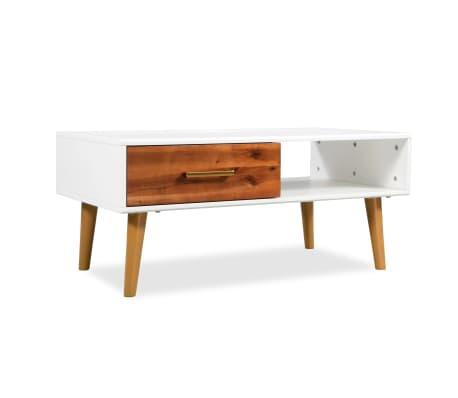 vidaXL Kavos staliukas, masyvi akacijos mediena, 90x50x40cm[1/8]