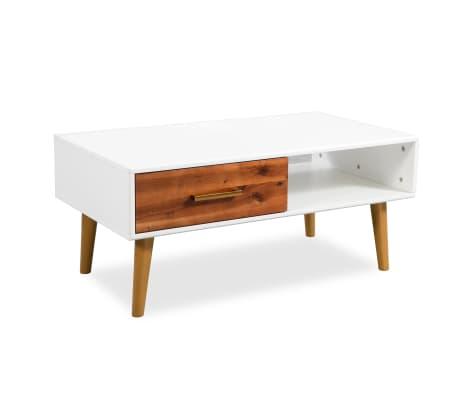 vidaXL Kavos staliukas, masyvi akacijos mediena, 90x50x40cm[3/8]
