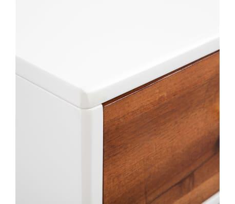 vidaXL Kavos staliukas, masyvi akacijos mediena, 90x50x40cm[6/8]