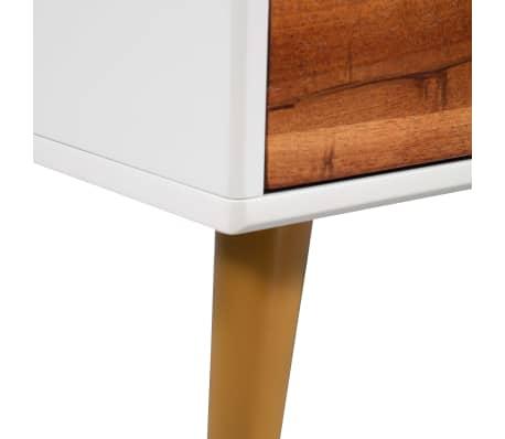 vidaXL Kavos staliukas, masyvi akacijos mediena, 90x50x40cm[7/8]
