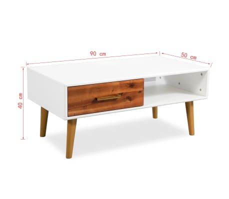 vidaXL Kavos staliukas, masyvi akacijos mediena, 90x50x40cm[8/8]