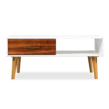 vidaXL Kavos staliukas, masyvi akacijos mediena, 90x50x40cm[2/8]