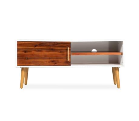 vidaXL Televizoriaus spintelė, akacijos mediena, 120x35x45cm[2/9]