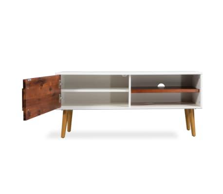 vidaXL Televizoriaus spintelė, akacijos mediena, 120x35x45cm[4/9]
