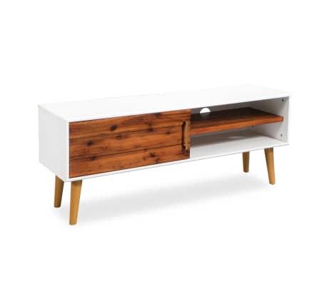 vidaXL Televizoriaus spintelė, akacijos mediena, 120x35x45cm[5/9]