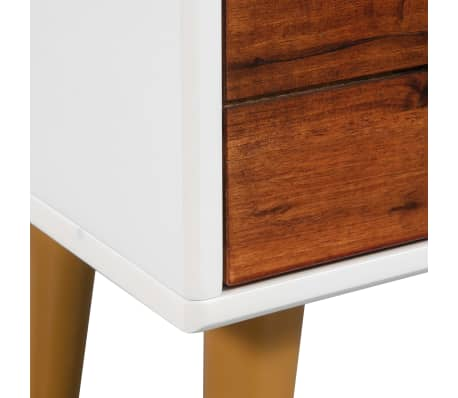 vidaXL Televizoriaus spintelė, akacijos mediena, 120x35x45cm[8/9]