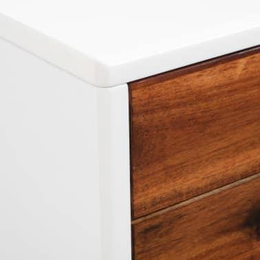 vidaXL Televizoriaus spintelė, akacijos mediena, 120x35x45cm[7/9]