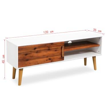 vidaXL Televizoriaus spintelė, akacijos mediena, 120x35x45cm[9/9]