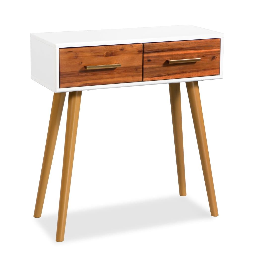 vidaXL Konzolový stolek z masivního akáciového dřeva 70 x 30 x 75 cm