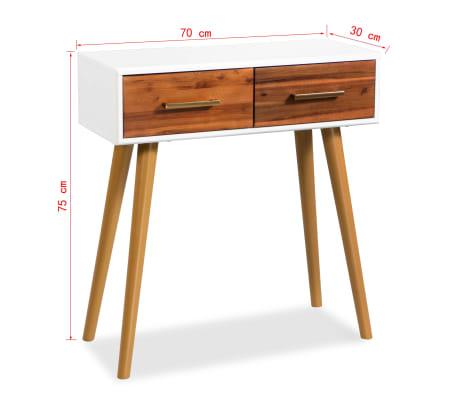 acheter vidaxl table console bois d 39 acacia massif 70 x 30 x 75 cm pas cher. Black Bedroom Furniture Sets. Home Design Ideas