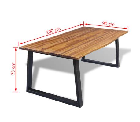 vidaXL Eettafel 200x90 cm massief acaciahout[7/7]