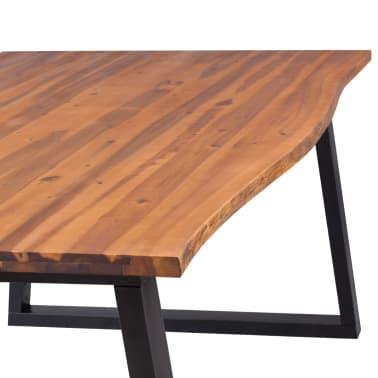 vidaXL Eettafel 200x90 cm massief acaciahout[5/7]