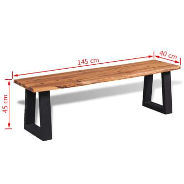"vidaXL Bench Solid Acacia Wood 57.1""[6/6]"