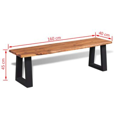 "vidaXL Bench Solid Acacia Wood 63""[6/6]"