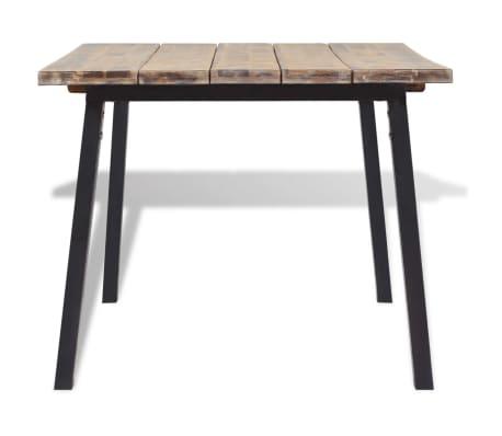 """vidaXL Dining Table Solid Acacia Wood 66.9""""x35.4""""[3/6]"""