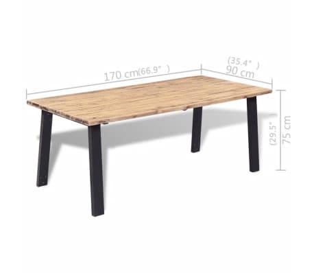 vidaXL Table de salle à manger 170 x 90 cm Bois d'acacia massif[6/6]