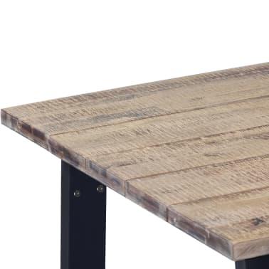 """vidaXL Dining Table Solid Acacia Wood 66.9""""x35.4""""[4/6]"""