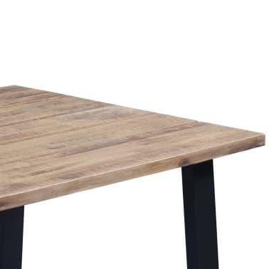 """vidaXL Dining Table Solid Acacia Wood 66.9""""x35.4""""[5/6]"""