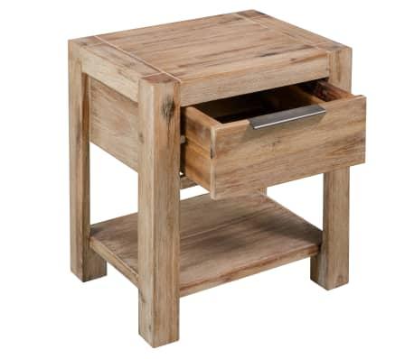 Vidaxl Table De Chevet Avec Tiroir 40x30x48 Cm Bois D Acacia