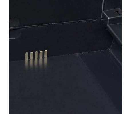 vidaXL Garden Storage Cabinet with 1 Shelf Black[6/9]