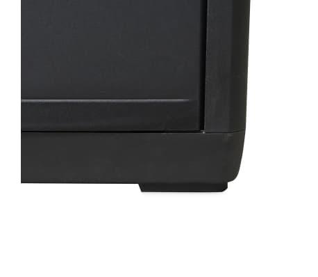 vidaXL Garden Storage Cabinet with 1 Shelf Black[8/9]
