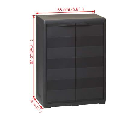 vidaXL Garden Storage Cabinet with 1 Shelf Black[9/9]