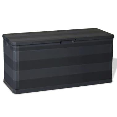vidaXL Záhradný úložný box čierny 117x45x56 cm[1/8]