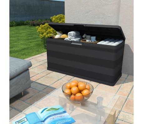 vidaXL Záhradný úložný box čierny 117x45x56 cm[2/8]