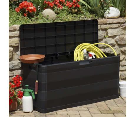 vidaXL Záhradný úložný box čierny 117x45x56 cm[3/8]