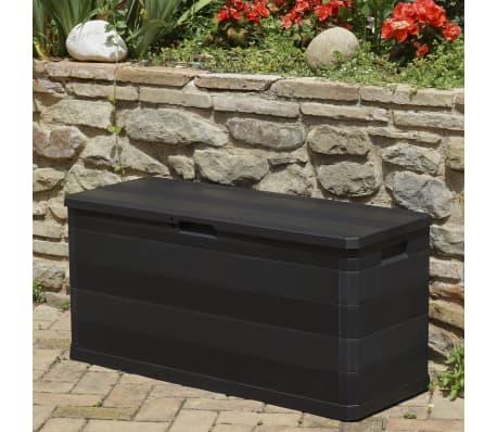 vidaXL Záhradný úložný box čierny 117x45x56 cm[5/8]