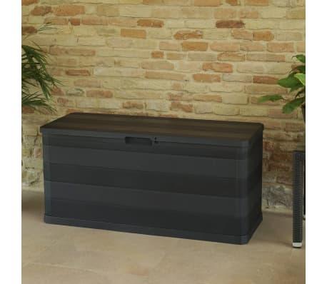 vidaXL udendørs opbevaringskasse sort 117 x 45 x 56 cm[6/8]