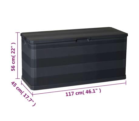 vidaXL udendørs opbevaringskasse sort 117 x 45 x 56 cm[8/8]