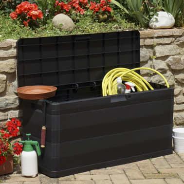 vidaXL udendørs opbevaringskasse sort 117 x 45 x 56 cm[3/8]