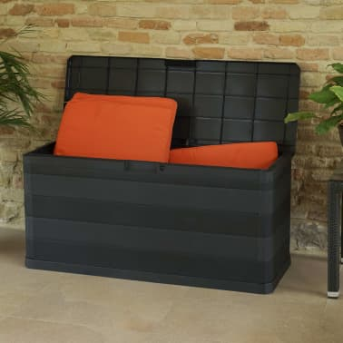 vidaXL Záhradný úložný box čierny 117x45x56 cm[4/8]