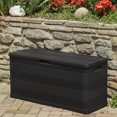 vidaXL udendørs opbevaringskasse sort 117 x 45 x 56 cm[5/8]