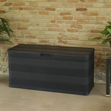 vidaXL Záhradný úložný box čierny 117x45x56 cm[6/8]