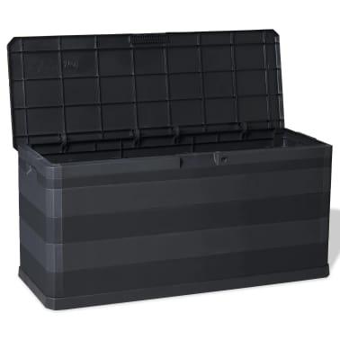 vidaXL Záhradný úložný box čierny 117x45x56 cm[7/8]