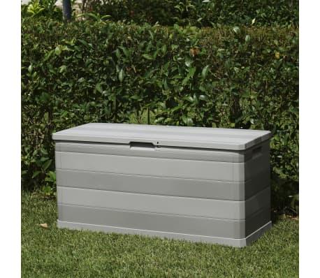 vidaXL Gartenbox Grau 117×45×56 cm[6/8]
