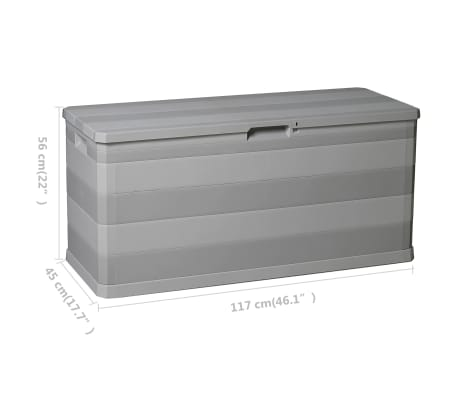 vidaXL Gartenbox Grau 117×45×56 cm[8/8]